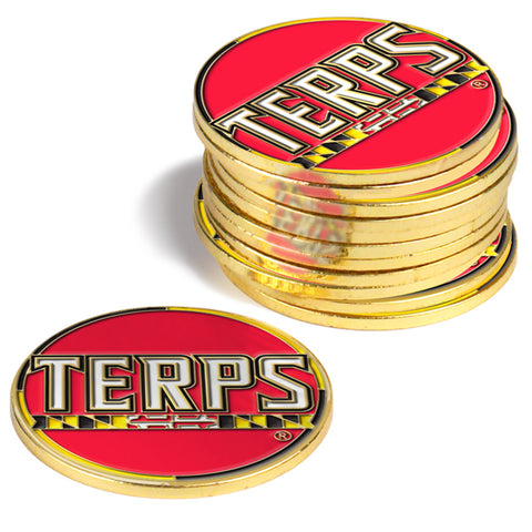 Maryland Terrapins 12 Pack Ball Markers