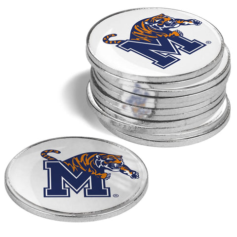Memphis Tigers 12 Pack Ball Markers