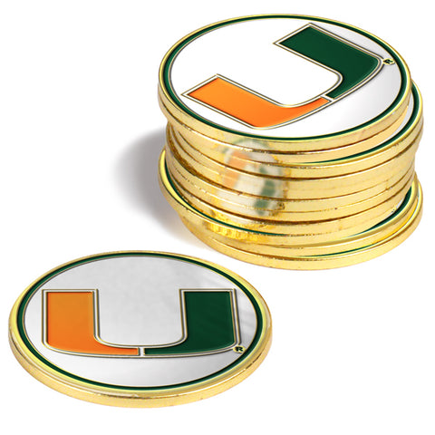 Miami Hurricanes 12 Pack Ball Markers