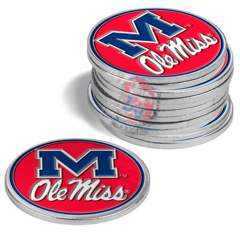 Mississippi Rebels - Ole Miss 12 Pack Ball Markers