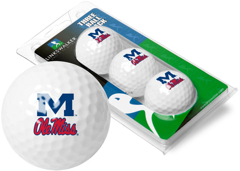 Mississippi Rebels - Ole Miss 3 Golf Ball Sleeve