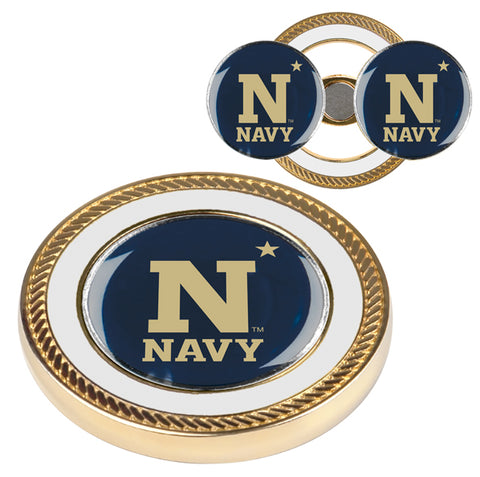 Naval Academy Midshipmen Challenge Coin / 2 Ball Markers