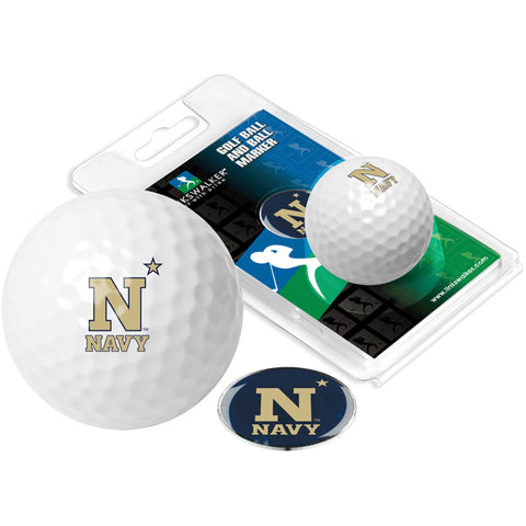 Naval Academy Midshipmen Golf Ball One Pack with Marker
