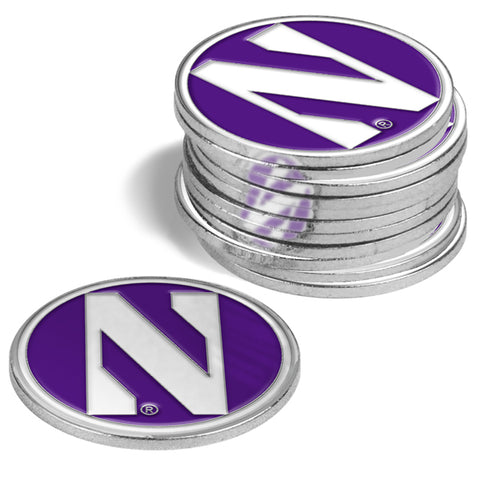 Northwestern Wildcats 12 Pack Ball Markers
