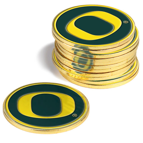 Oregon Ducks 12 Pack Ball Markers