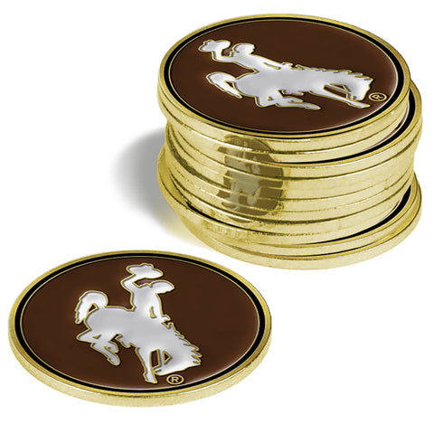 Wyoming Cowboys 12 Pack Ball Markers