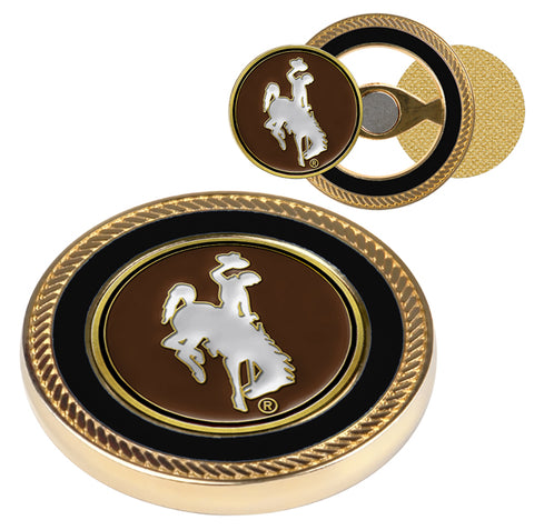 Wyoming Cowboys Challenge Coin / 2 Ball Markers