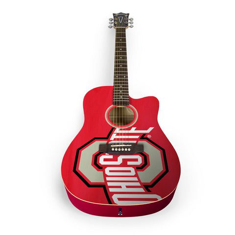 NCAA Ohio State Buckeyes Acoustic Guitar