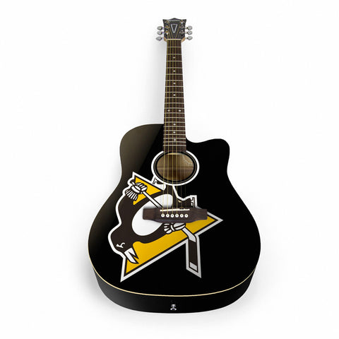 NHL Pittsburgh Penguins Acoustic Guitar