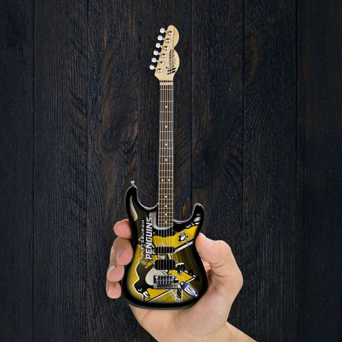NHL Pittsburgh Penguins Mini Guitar