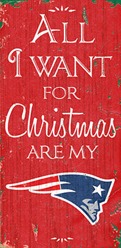 New England Patriots All I Want Wood Sign
