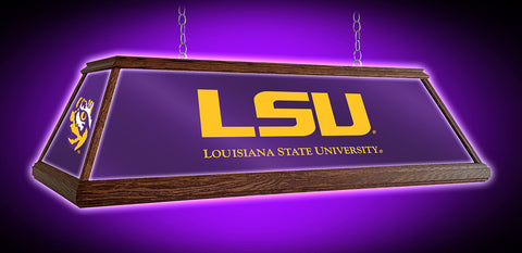 "LSU Tigers 49"" Wood Framed Pool Table Light"