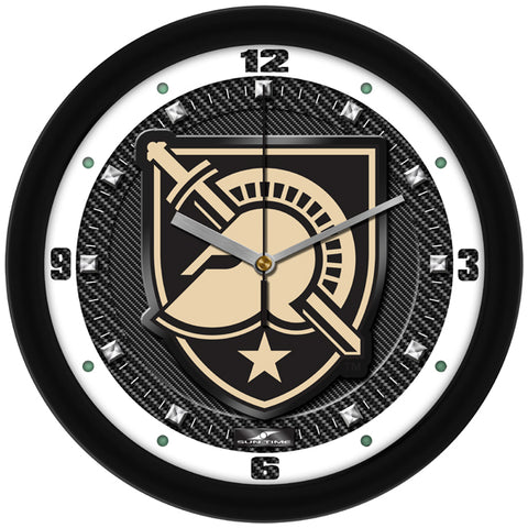 Army Black Knights - Carbon Fiber Textured Wall Clock