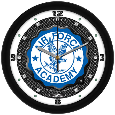 Air Force Falcons-Carbon Fiber Textured Wall Clock
