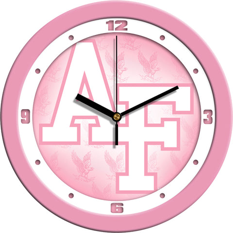 Air Force Falcons - Pink Wall Clock