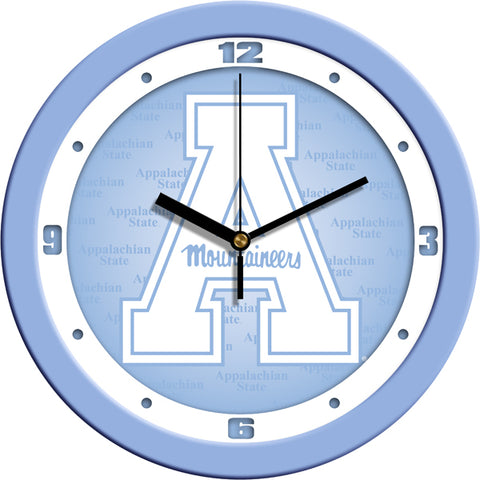 Appalachian State Mountaineers-Baby Blue Wall Clock