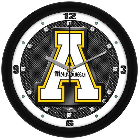 Appalachian State Mountaineers-Carbon Fiber Textured Wall Clock