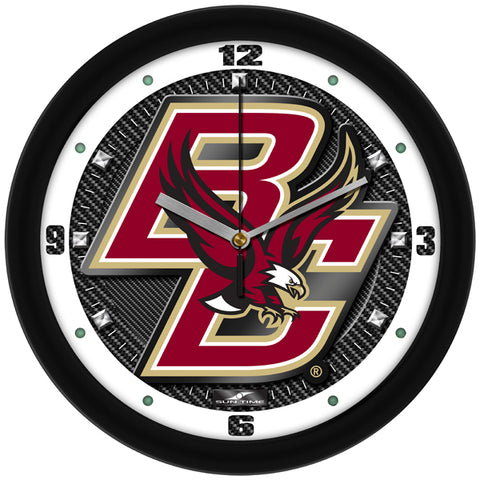 Boston College Eagles - Carbon Fiber Textured Wall Clock