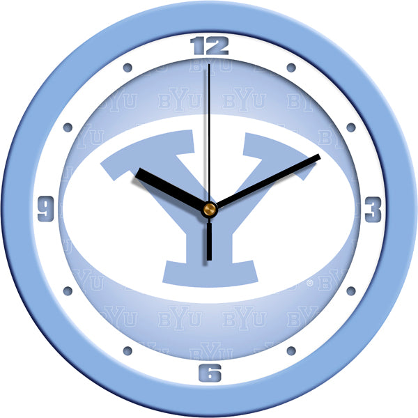 Brigham Young Univ. Cougars - Baby Blue Wall Clock