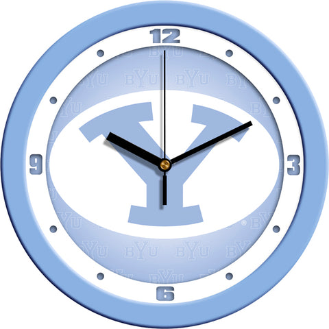 Brigham Young Univ. Cougars-Baby Blue Wall Clock