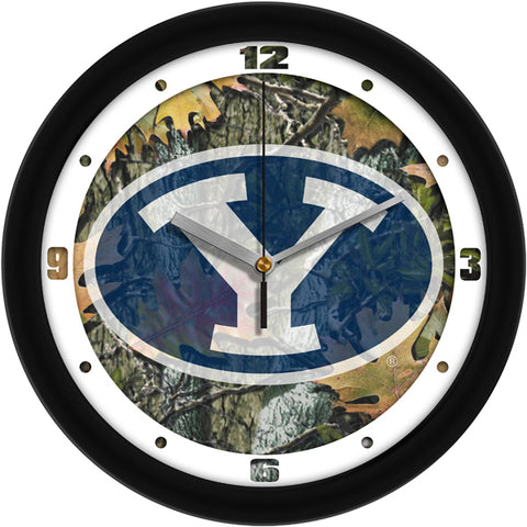 Brigham Young Univ. Cougars-Camo Wall Clock