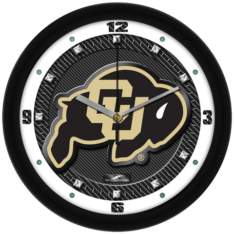 Colorado Buffaloes-Carbon Fiber Textured Wall Clock