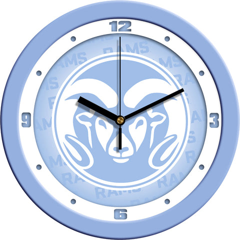 Colorado State Rams-Baby Blue Wall Clock