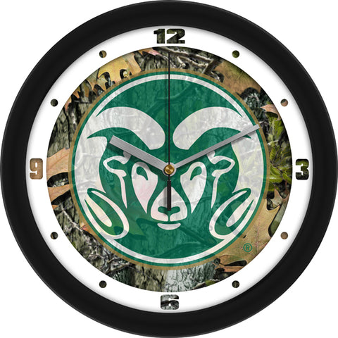 Colorado State Rams-Camo Wall Clock
