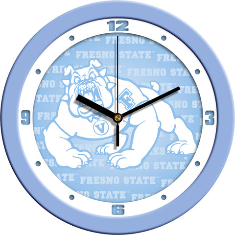 Fresno State Bulldogs-Baby Blue Wall Clock
