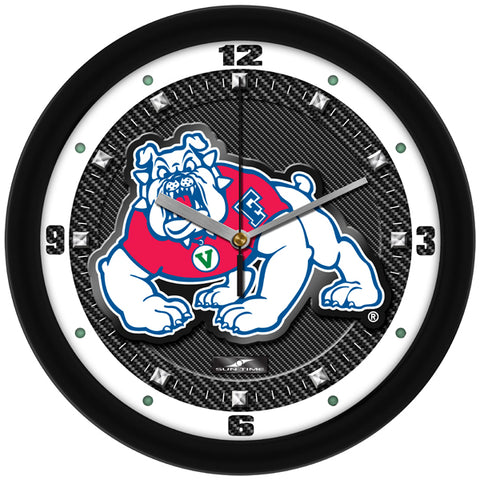 Fresno State Bulldogs-Carbon Fiber Textured Wall Clock