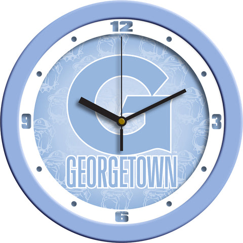 Georgetown Hoyas-Baby Blue Wall Clock