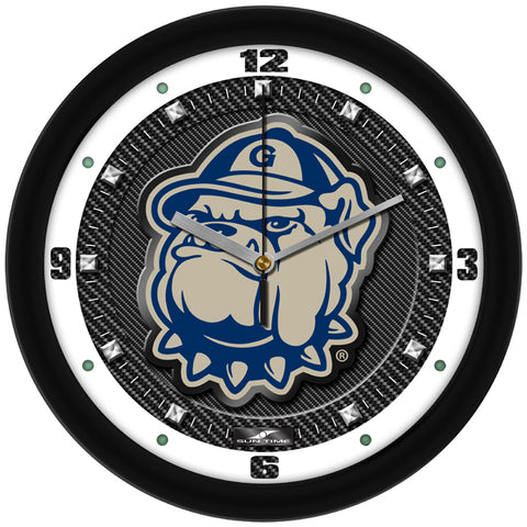 Georgetown Hoyas-Carbon Fiber Textured Wall Clock