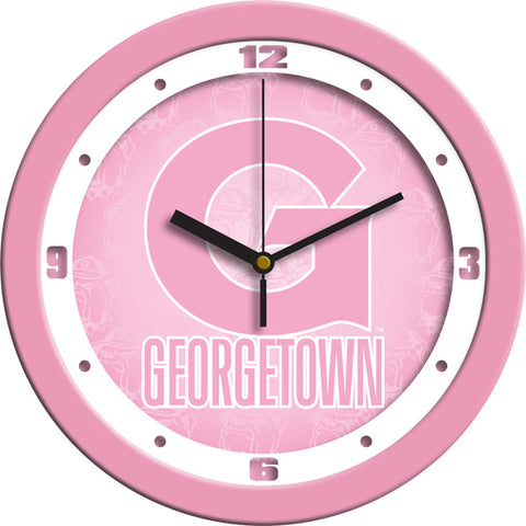 Georgetown Hoyas - Pink Wall Clock