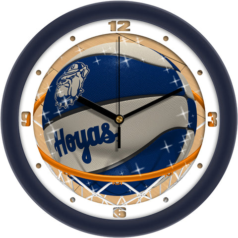 Georgetown Hoyas - Slam Dunk Wall Clock