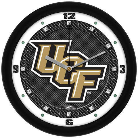 Central Florida Knights-Carbon Fiber Textured Wall Clock