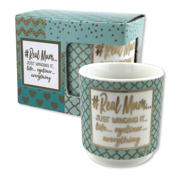 Real Mum - gift boxed mug Mug Lisa Pollock House Of Little Dreams