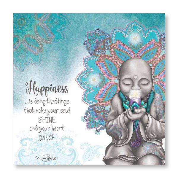 Happiness Mindful Soul LED Canvas Wall Hangings Lisa Pollock House Of Little Dreams