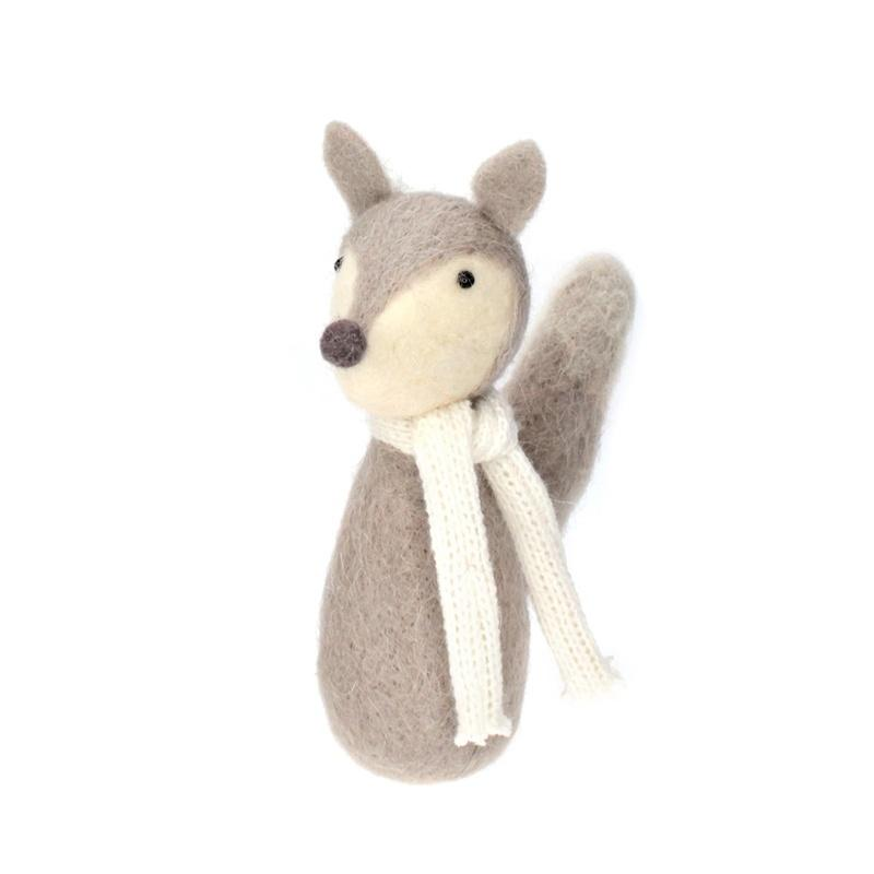 Grey Standing Fox 21cm Christmas Decor Delight Decor House Of Little Dreams