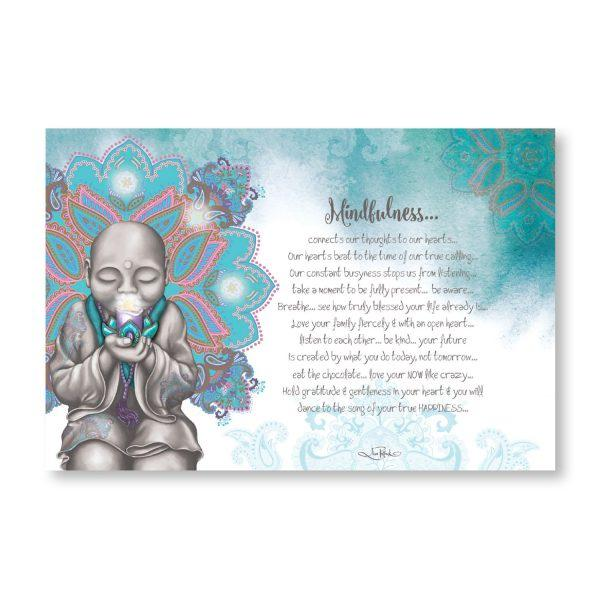 Mindfulness Monk LED Canvas Wall Hangings Lisa Pollock House Of Little Dreams