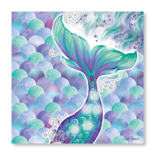Mermaid Canvas LED Wall Art 80cm Wall Hangings Lisa Pollock House Of Little Dreams