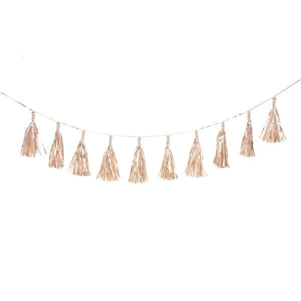 Gold Tassel Garland (2m) Garland Inspire by The Design Edge House Of Little Dreams