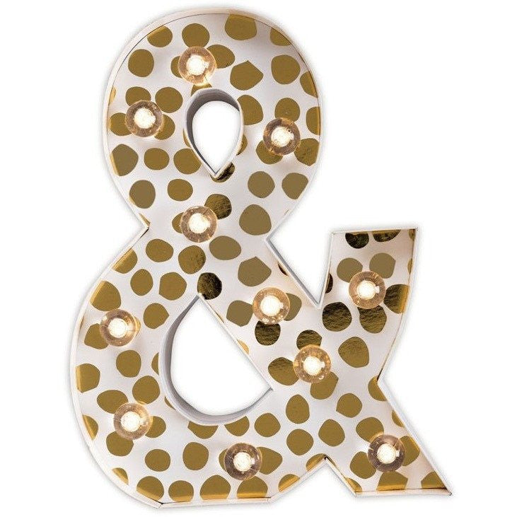 Little Paper Lane Ampersand Marquee Light Night Light