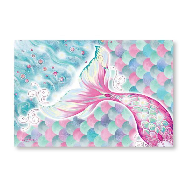 Mermaid LED Canvas Mermazing 60 x 90cm Wall Hangings Lisa Pollock House Of Little Dreams