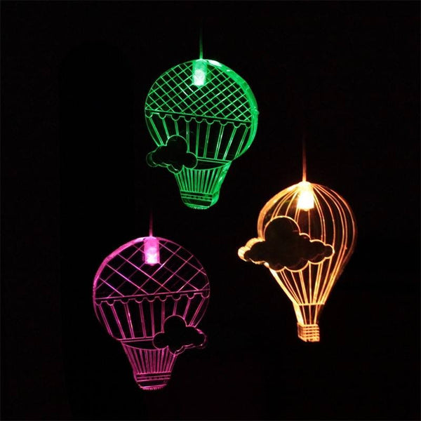 Mobile Hot Air Balloon w Timer Mobiles Night Light