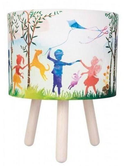 In The Woods Fabric Table Lamp - Micky & Stevie Kids Lamps Night Light