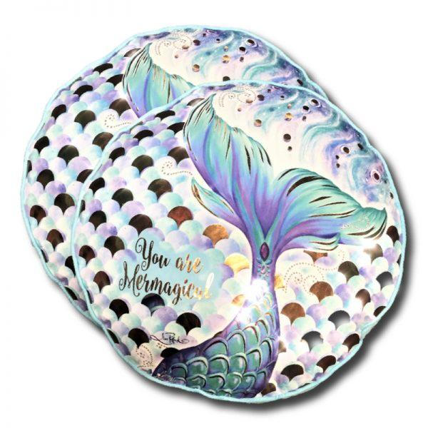 Round Mermaid Cushion 45cm Kids Decor Lisa Pollock House Of Little Dreams