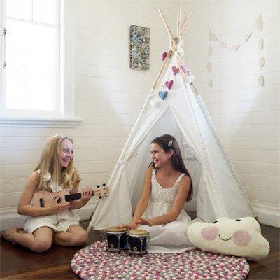 Tee pee small Tee Pee Rainbows and Clover House Of Little Dreams