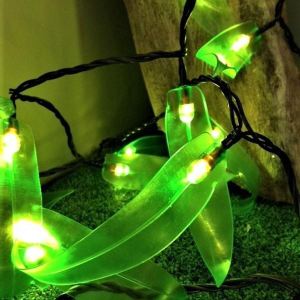 Lime Gum Leaves Solar Solar Night Light