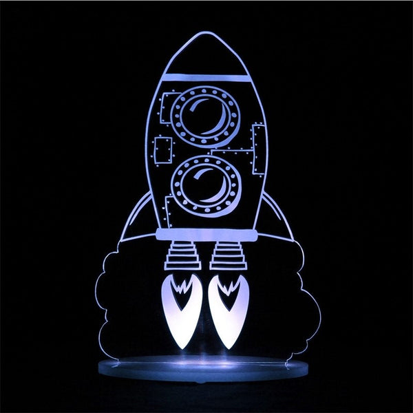 My Dream Light Rocket Kids Lamps Night Light
