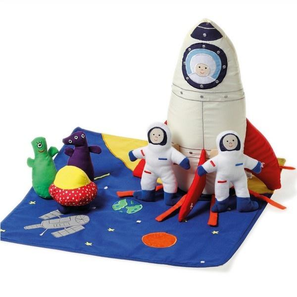Space Ship Soft Play Set Soft Toys Oskar & Ellen House Of Little Dreams